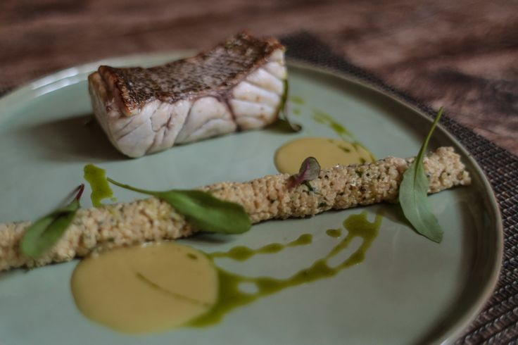 White grouper with The Margi Farm herbs scented quinoa (Dinner Menu)