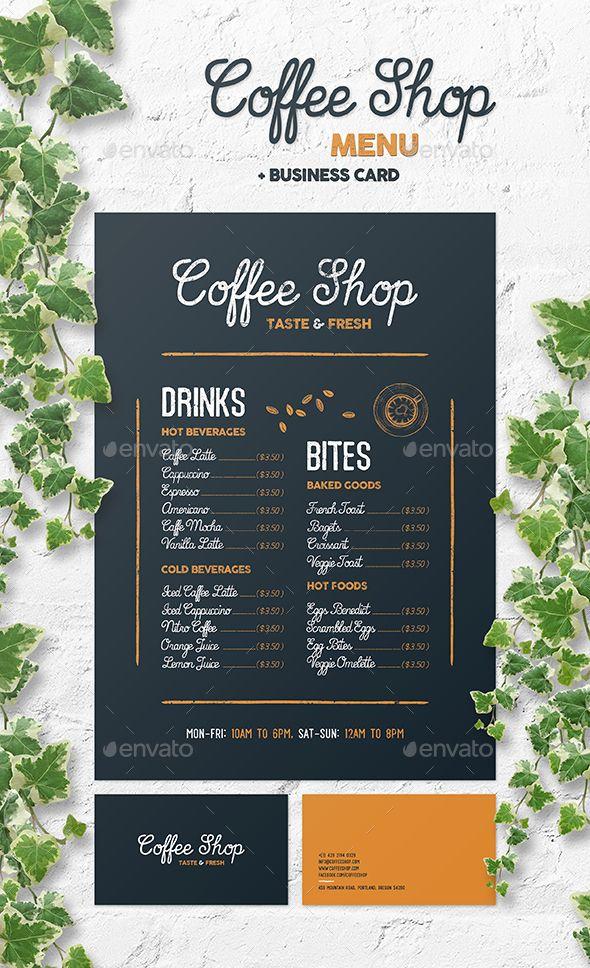 Coffee Shop Menu Desain Menu Papan Menu Makanan