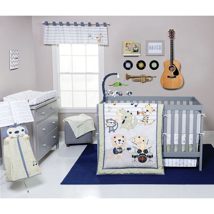 Trend Lab Safari Rock Band 6-pc. Crib Bedding Set, Ovrfl Oth