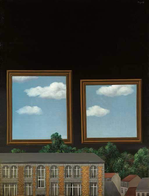 René Magritte. 1929-1930. Le Promenoir des Amants (The Promenade of the Lovers). Oil on canvas