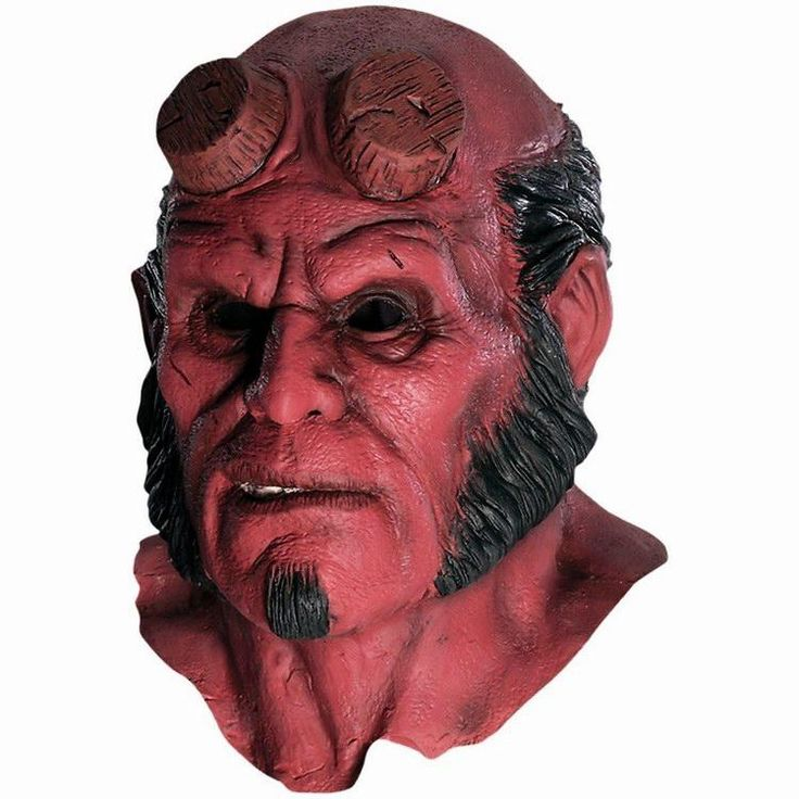 Hellboy Mask Hood Halloween Masks Realistic Silicone cosplay scary mask latex hood mascara terror vestido de festa face mask