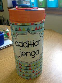 """Modify a Jenga game to be """"Addition Jenga."""""""