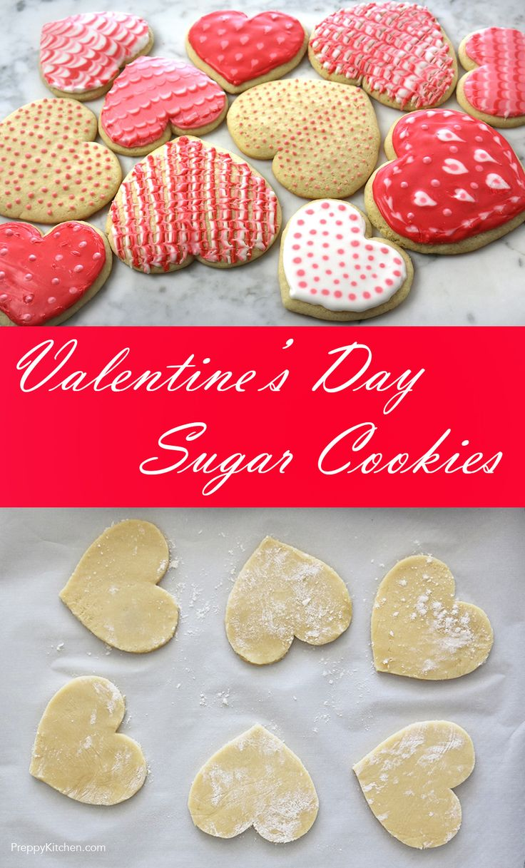 Valentine's Day Sugar Cookies via @preppykitchen