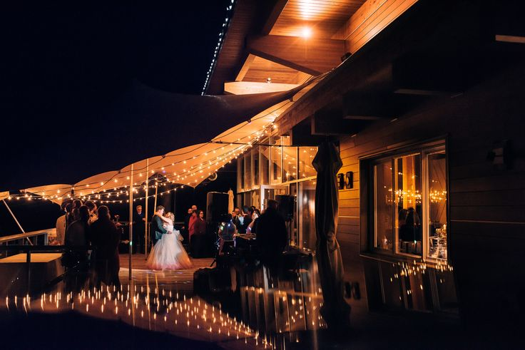 wedding reception sea to sky gondola An epic first dance on the outside deck!