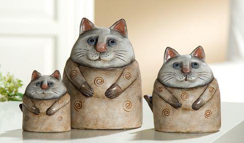 Keramik Katze Benito mittel, 31323 Engel und Figuren Tierfiguren