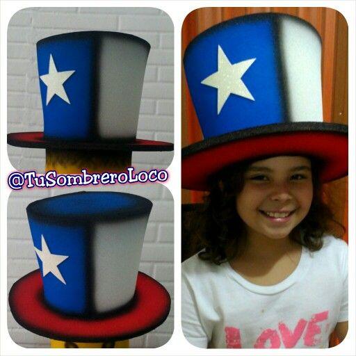 #Sombrero #Chile para esta pequeña fanática del #fútbol apoyando a su equipo en el #mundial #Brasil2014