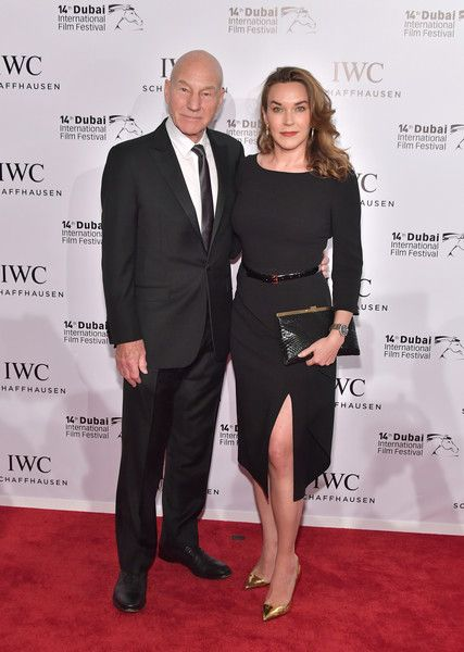 Sir Patrick Stewart and Sunny Ozell attend the IWC Filmmakers Award on day two of the 14th annual Dubai International Film Festival held at the One and Only Hotel on December 7, 2017 in Dubai, United Arab Emirates.  (Photo by Neilson Barnard/Getty Images for DIFF) *** Local Caption *** Sir Patrick Stewart; Sunny Ozell