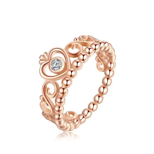 Pandora Rose Gold Plated Crystal Crown Stackable Ring. Starting at $1
