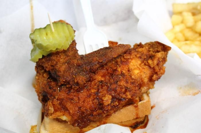Prince's Hot Chicken Shack: Nashville, Tenn.  Located in Nashville, Prince's Hot Chicken is widely recognized as one of the best dives for fried chicken. The chicken is available in four different levels of spice: mild, medium, hot, and extra hot. Unlike most chicken wings that are dripping in sauce, Prince's chicken is generously seasoned and fried to perfection.