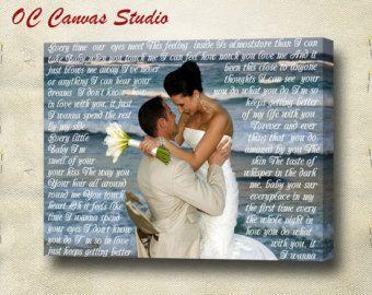 Wedding Custom Photo Canvas Print with Words by OCCanvasStudio
