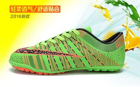 2016 New Men Soccer Shoes PU Leather Children Football Boots Cleats Long High state Outdoor Sport Training Soccer Shoes boot