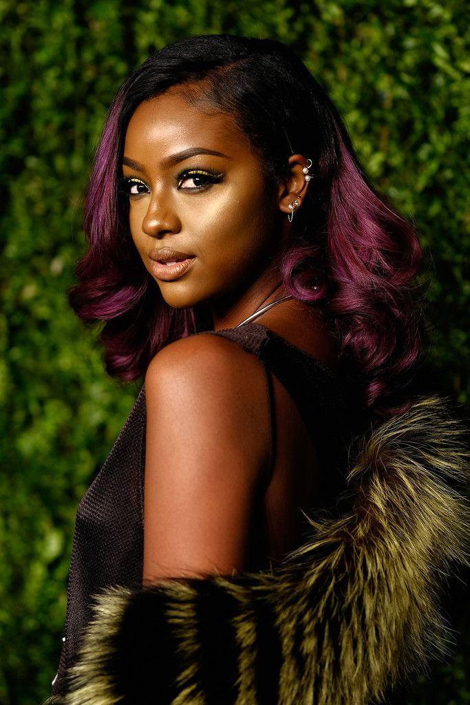 Justine Skye Celebrity Hair Pinterest Retro Curls