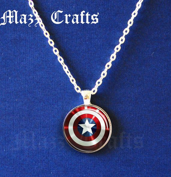 Captian America Shield handmade necklace // love it!