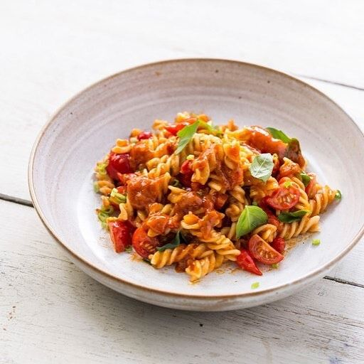 What are you having for dinner why not try Pesto rosso fusilli with cherry tomatoes and basil by Paul Ainsworth http://ift.tt/2xH6VGs #pasta #pastasalad #dinner #dinnerideas #dinneridea #cooking #recipes #recipe