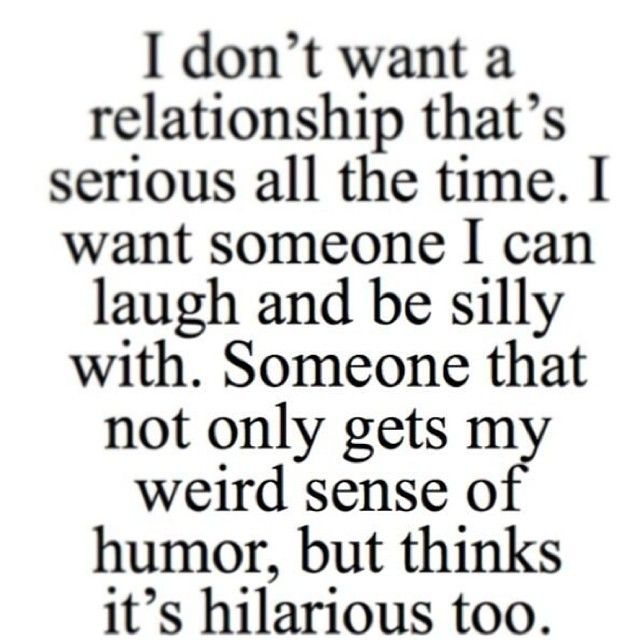 Course this would happen only in the new system of things for me, but yeah... who wants to be in a serious only relationship