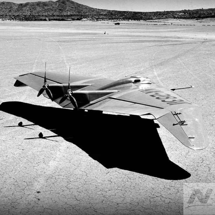 "Jack Northrop's N-1M ""Jeep"" flew for the first time in 1940. Its design, built for speed and efficiency, helped inspire the B-2 stealth bomber."