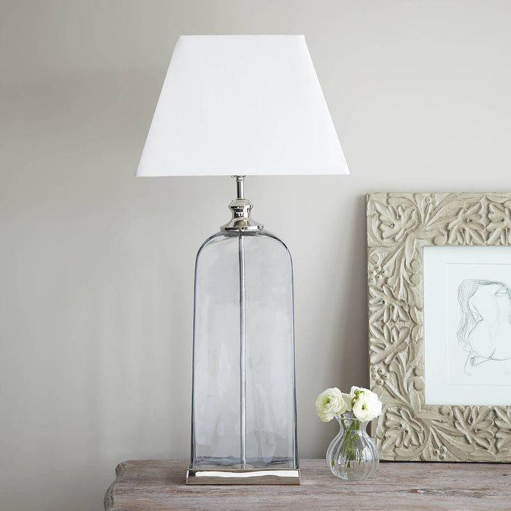 Slim oval glass lamp base