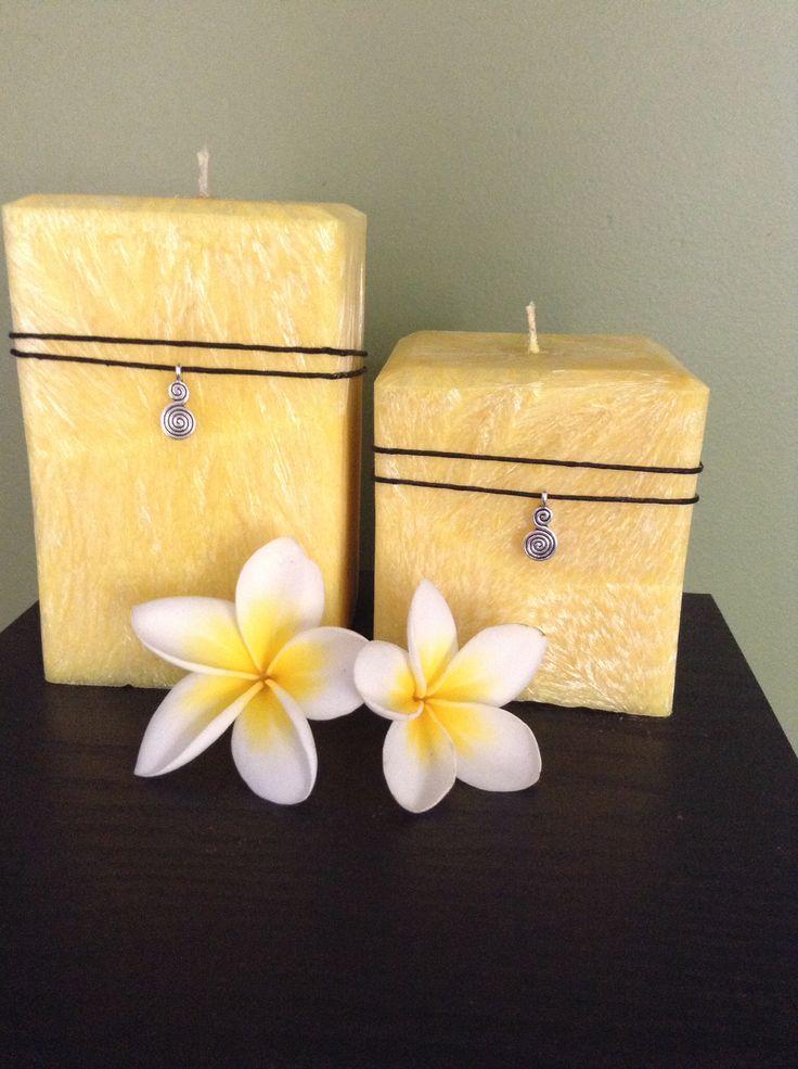 Palm wax pillars, made by Megan