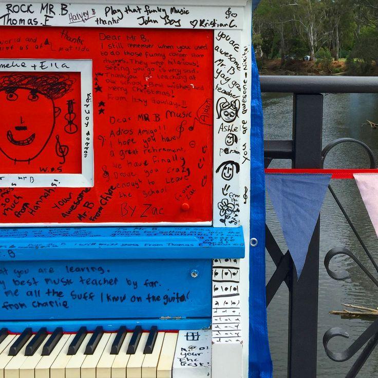 Piano by the river at the Wangaratta Jazz and Blues Festival. #wangaratta