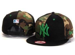 Casquette NY New York Yankees MLB Snapback Camo Noir : Casquette Pas Cher