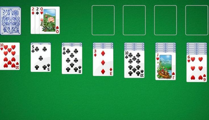 The app offers 'five of the best' Solitaire card games — Klondike, Spider, FreeCell, Pyramid and Tripeaks.