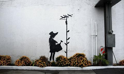 street art by Banksy. #streetart. 000
