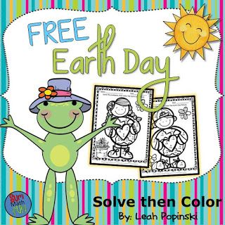 FREE Earth Day Addition and Subtraction Activities  No Prep!! Just print!Super cute and practical...These two cute coloring pages include some problems requiring regrouping. Students will need to decide if regrouping is needed. Students solve the problems and then color the picture.An answer key is included.  Download here.  Earth Day Addition and Subtraction 1st and 2nd Grades  And as always...  addition addition and subtraction Earth Day earth day activities Earth Day math freebie…