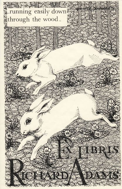 Confessions of a Bookplate Junkie - Bookplate of Richard Adams author of Watership Down.