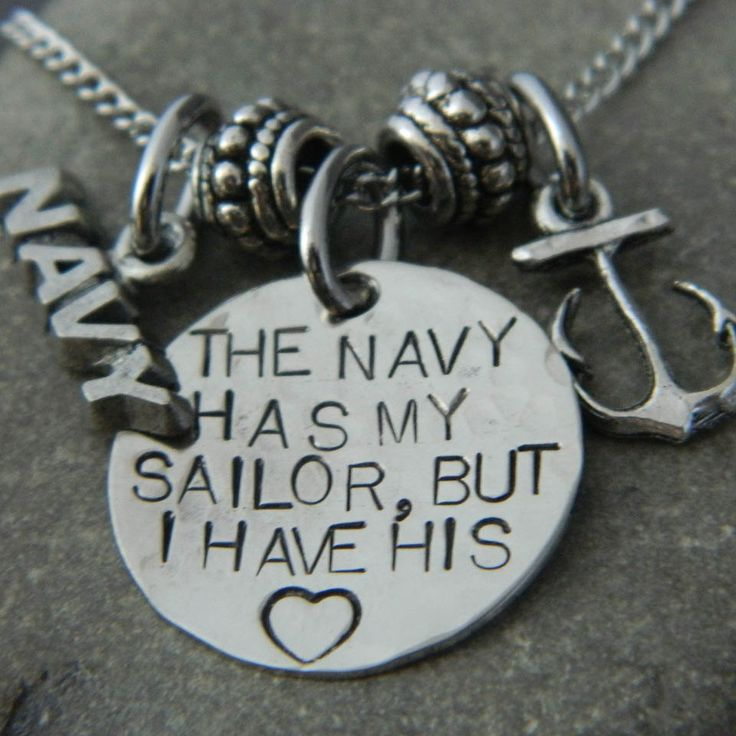 The Navy Has My Sailor But I have His Heart Anchor by WireNWhimsy, $30.00 <3 wantt!