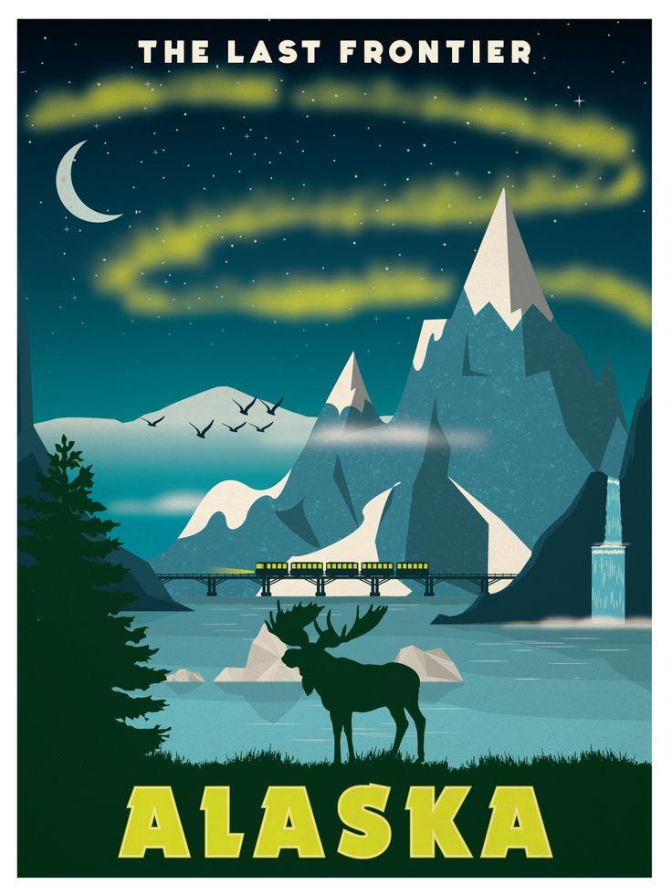 Vintage Alaska Poster available now at ideastorm.bigcartel.com