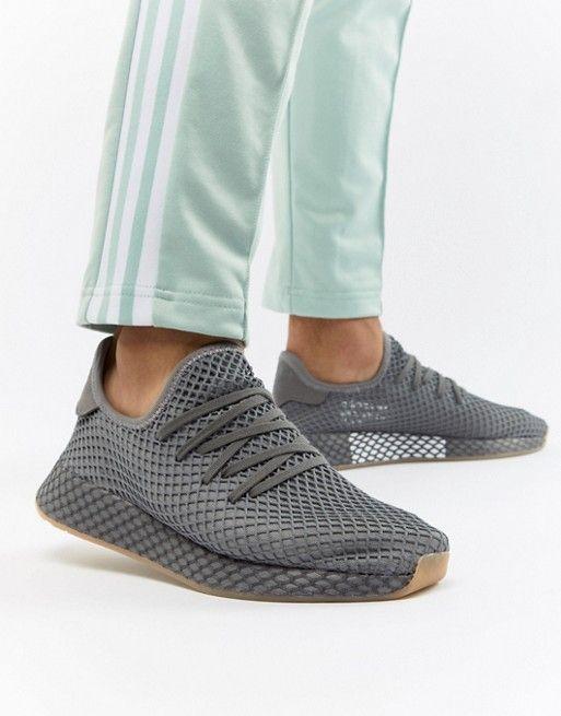 bf61a6497 adidas Originals Deerupt Runner Sneakers In Gray CQ2627 in 2019 ...