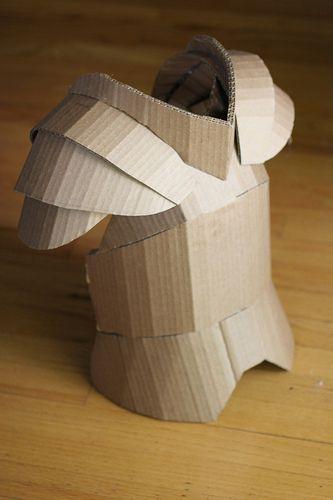 Cardboard chest plate                                                                                                                                                     Más