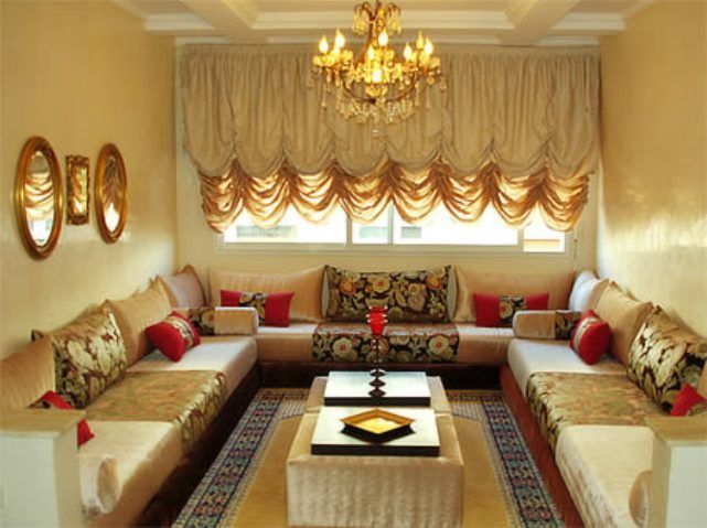 D cor arabe d couration salon marocain photo deco maison id es decoration d cor for Decor de salon maison
