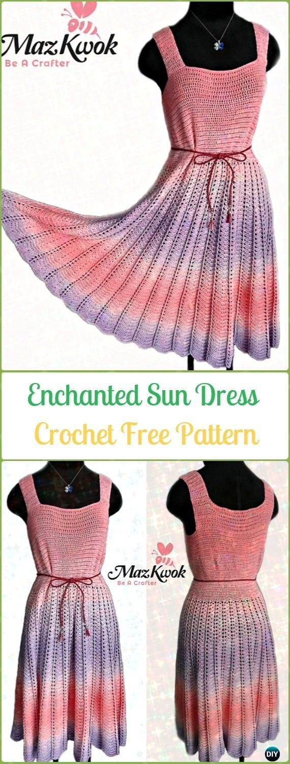 Crochet Enchanted Sun Dress Free Pattern - Crochet Women Dress Free Patterns