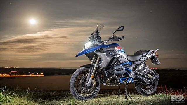 Photo Shoot With The Gs Rallye By Moonlight Motorcycle With Led Flashlight Motorrad Rallye Taschenlampe Motorrad