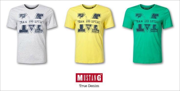#brandpl #mustang #tshirt #zolty #zielony #szary #kolory