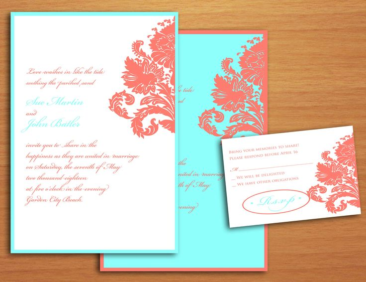 Blue And Coral Wedding Invitations: Best 25+ Coral Wedding Invitations Ideas On Pinterest