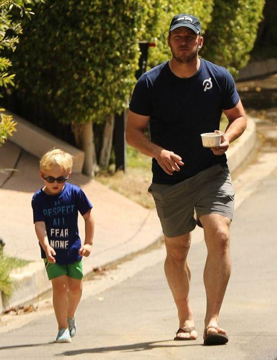 Chris Pratt with Jack Pratt in Los Angeles - 09/10/17
