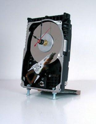 computer parts clock