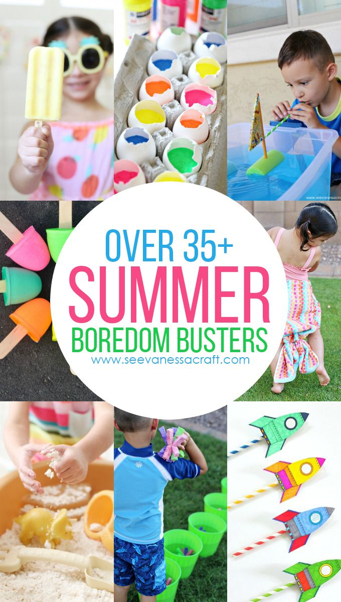 Over 35+ FUN Summer Boredom Buster Ideas for Kids - crafts, recipes, activities to keep the kiddos busy!
