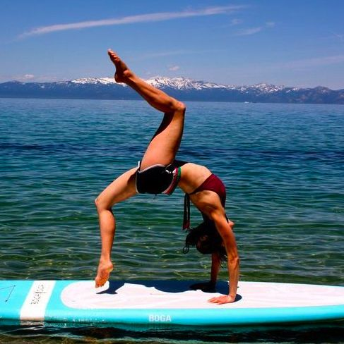 SUP yoga. Trying this at the end of the summer-or as soon as my yoga practice is back up to where I left off before pregnancy-with Erin!