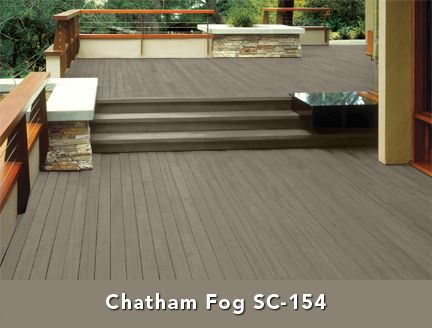 Behr Solid Color Wood Stain - Chatham Fog