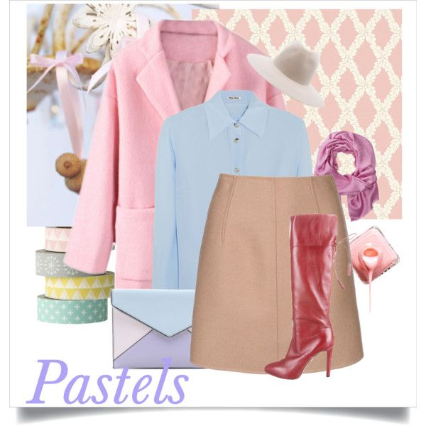 """Pastels"" by gelykou on Polyvore"