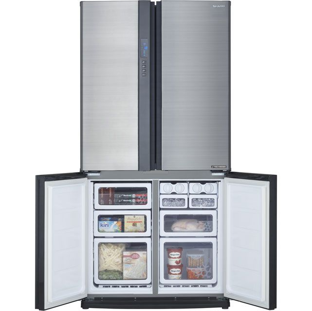 SJ-EX820FSL_SI | Sharp American Fridge Freezer | ao.com