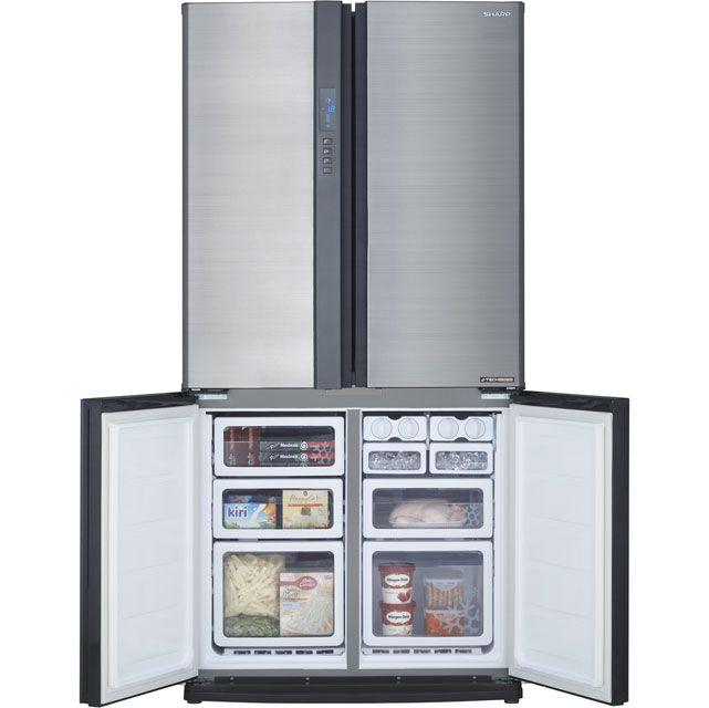 SJ-EX820FSL_SI | Sharp American Fridge Freezer | ao.com