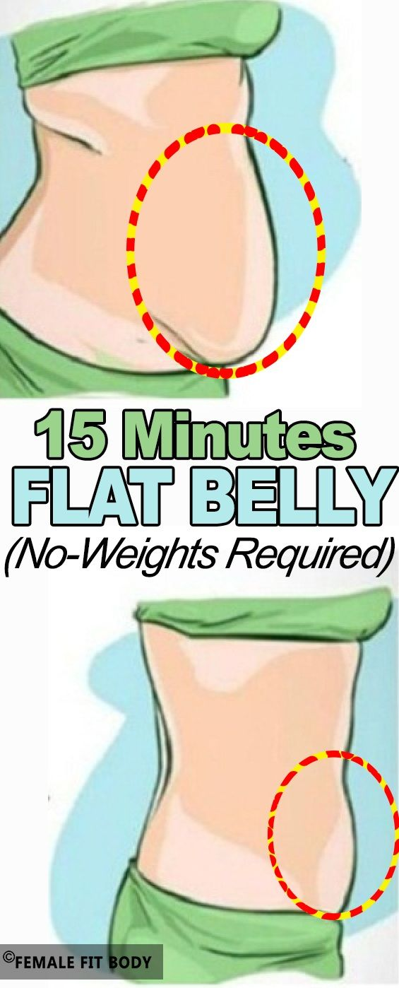 A 15 Minutes Flat Belly Workout (No-Weights Required) You do not even need weights or any other equipment to exercise