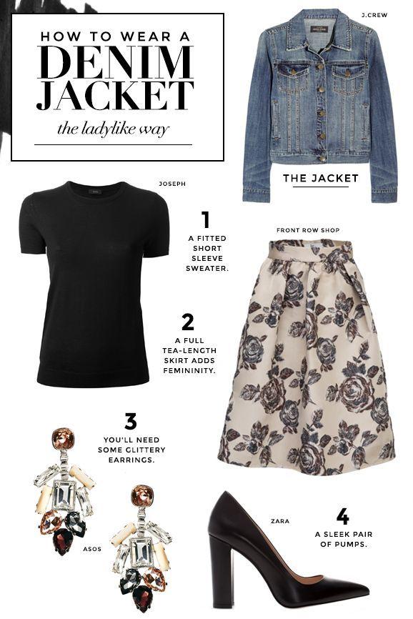 How to wear a denim jacket the ladylike way.