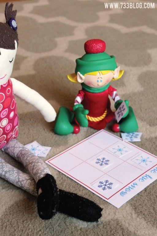 Elf on the Shelf Idea - Printable Tic Tac Snow Game