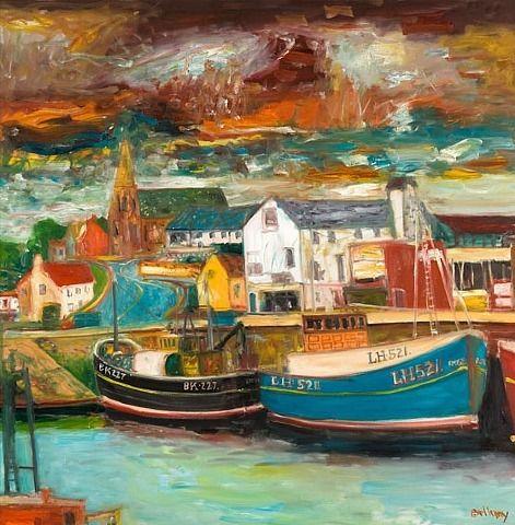 John Bellany, Eyemouth Harbour