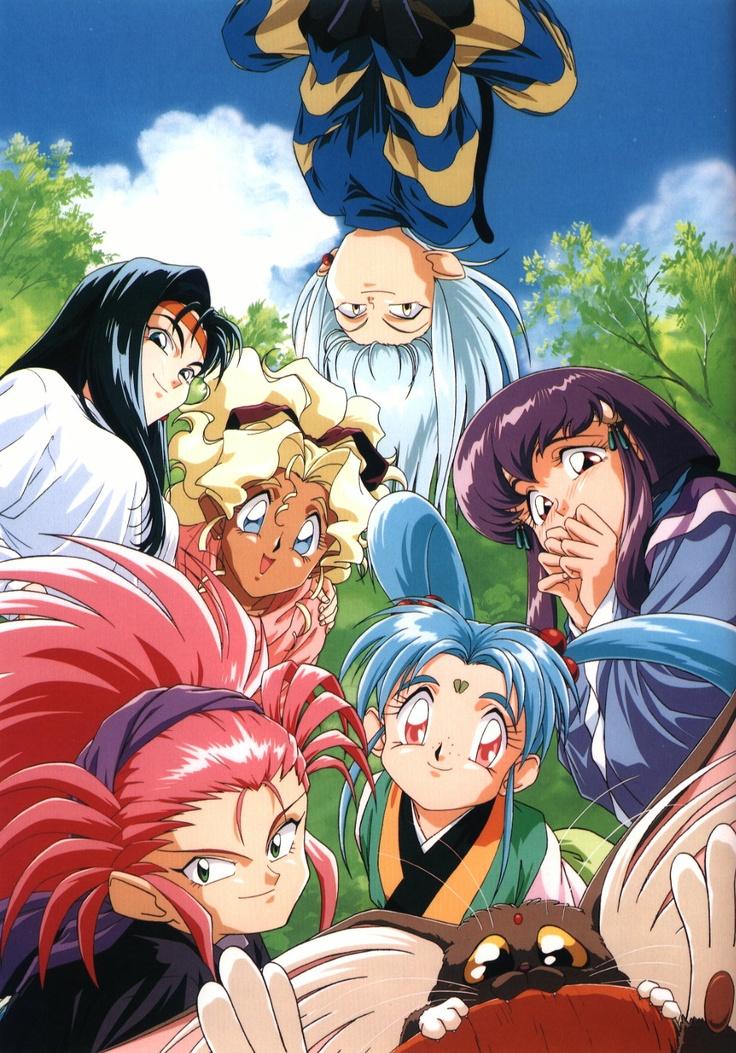 Tenchi Muyo - Sasami with pigtails and Kiyone with the black hair